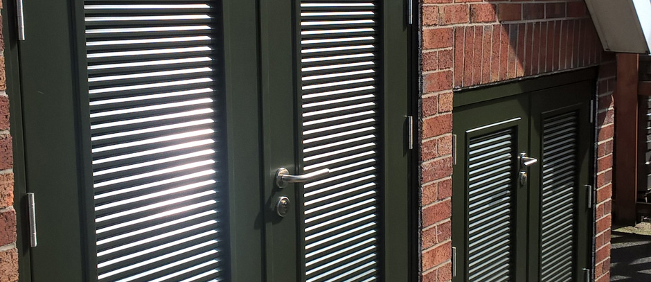 Louvered Doors Boiler Room Vented Doors And Louvered Doors