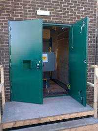 steel personnel doors steel personnel doors ... & Steel louvred boiler doors and utility boiler doors supplied and ...